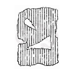Woodware - Clear Singles Stamp - Torn Cardboard 4 in x 6 in.