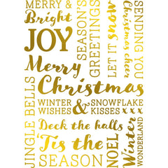 Crafter's Companion - Gemini Foilpress Stamp Die Elements - Festive Words