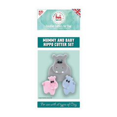 FMM Funcraft Cutters - Mummy & Baby Hippo Set