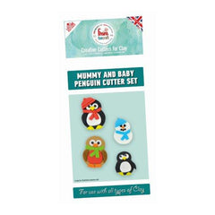 FMM Funcraft Cutters - Mummy & Baby Penguin Set