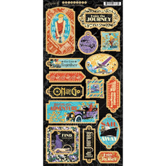 Graphic 45 - Life's A Journey Chipboard Die-Cuts 6 inch X12 inch Sheet