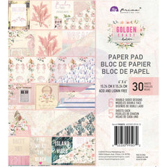 Prima Marketing Double-Sided Paper Pad 6 inch X6 inch 30 pack Golden Coast, 6 Designs/5 Each