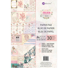 Prima Marketing Double-Sided Paper Pad A4 30 pack Golden Coast, 6 Designs/5 Each