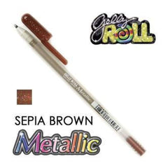 Gelly Roll Pens Metallic - Sepia