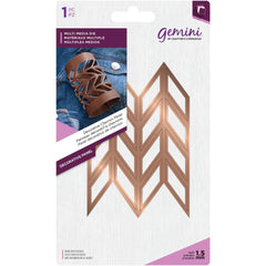 Crafters Companion Gemini Multi-Media Dies - Decorative Chevron Panel - 2.8in x 4.2in