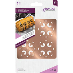 Crafters Companion Gemini Multi-Media Dies - Decorative Flower Panel - 3.9in x 3.9in