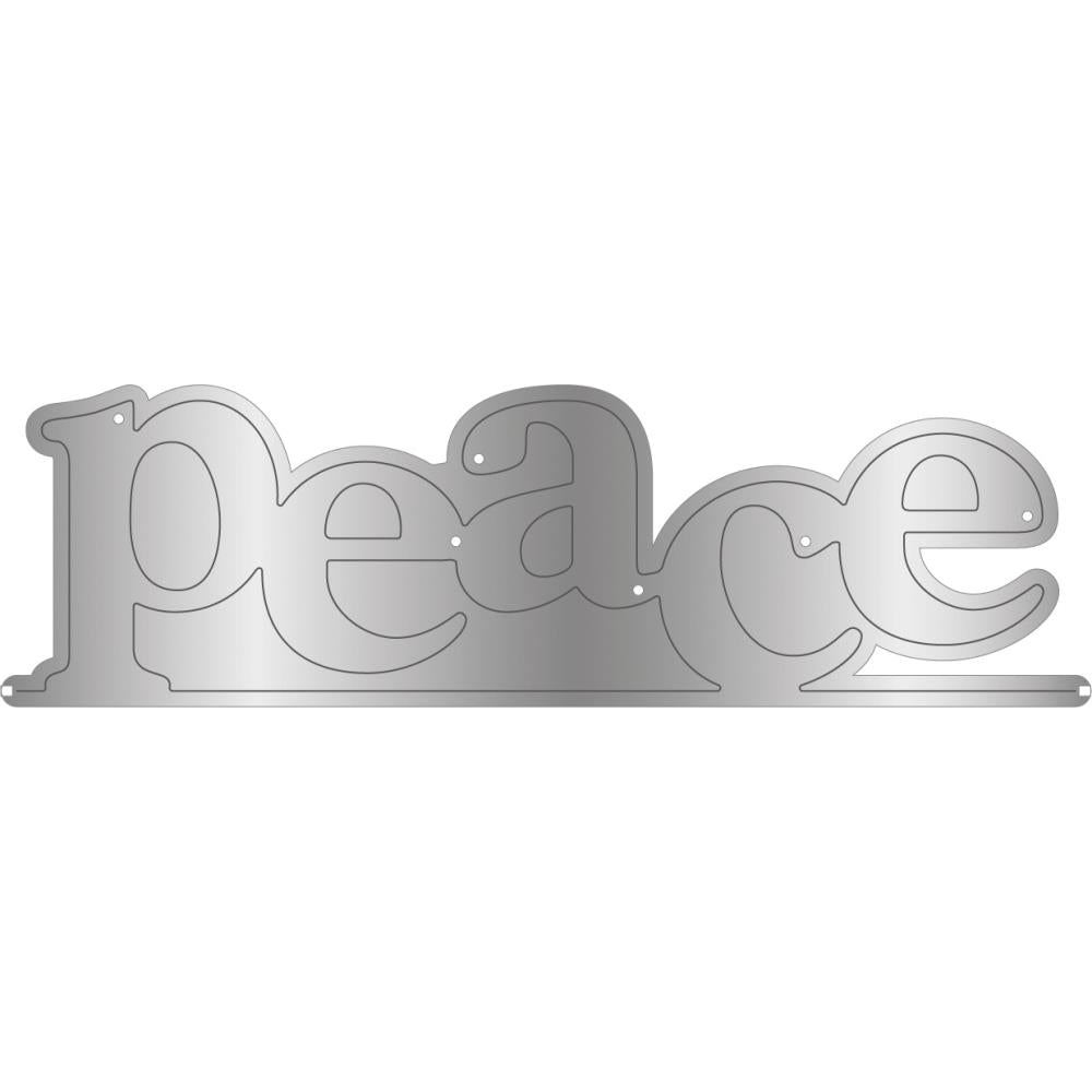 Crafter's Companion - Gemini Word Edge'Ables Stamp & Die - Peace