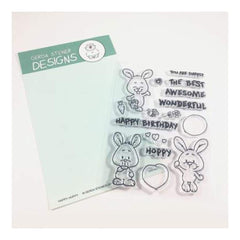 Gerda Steiner Designs - Happy Hoppy Bunny 4x6 Clear Stamp Set