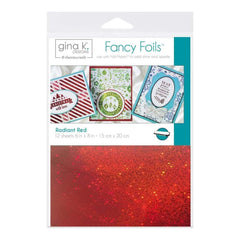 Gina K Designs Fancy Foil 6 inch X8 inch 12 pack Radiant Red