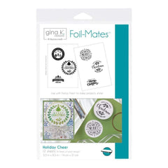 Gina K Designs Foil-Mates Background 5.5 inch X8.5 inch 10 pack Holiday Cheer