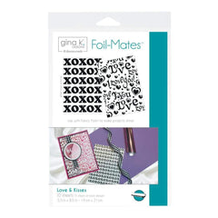 Gina K Designs Foil-Mates Background 5.5 inch X8.5 inch 10 pack Love & Kisses, 5 Designs/2 Each