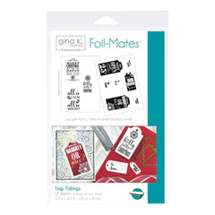 Gina K Designs Foil-Mates Background 5.5 inch X8.5 inch 10 pack Tag Tidings