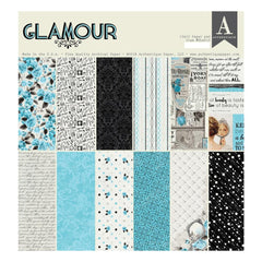 Authentique Double-Sided Cardstock Pad 12 inch X12 inch 18 pack Glamour, 6 Designs/3 Each
