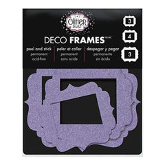 Glitter Dust Frame Assortment 10/Pkg - Vintage Purple