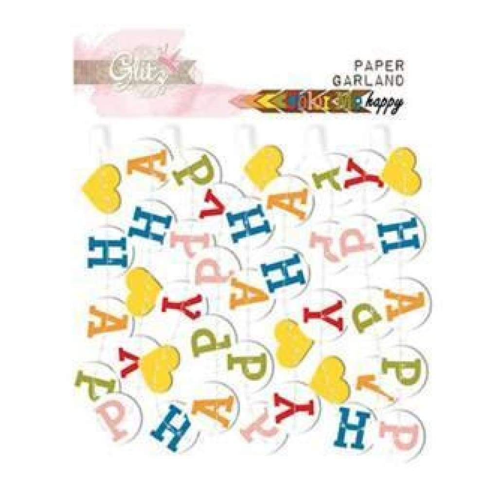 Glitz Designs - Colour Me Happy - Paper Garland