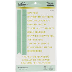Spellbinders Glimmer Hot Foil Plates - More Sentiments