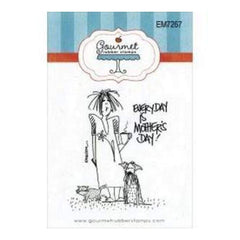 Gourmet Rubber Stamps Cling Stamps 2.75In.X4.75In. Everyday Is Mother's Day