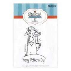 Gourmet Rubber Stamps Cling Stamps 2.75In.X4.75In. Happy Mother's Day