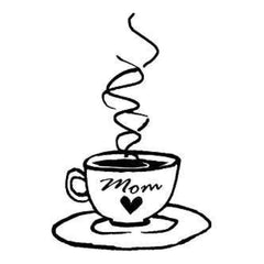 Gourmet Rubber Stamps Cling Stamps 2.75X4.75 Mom's Coffee Cup