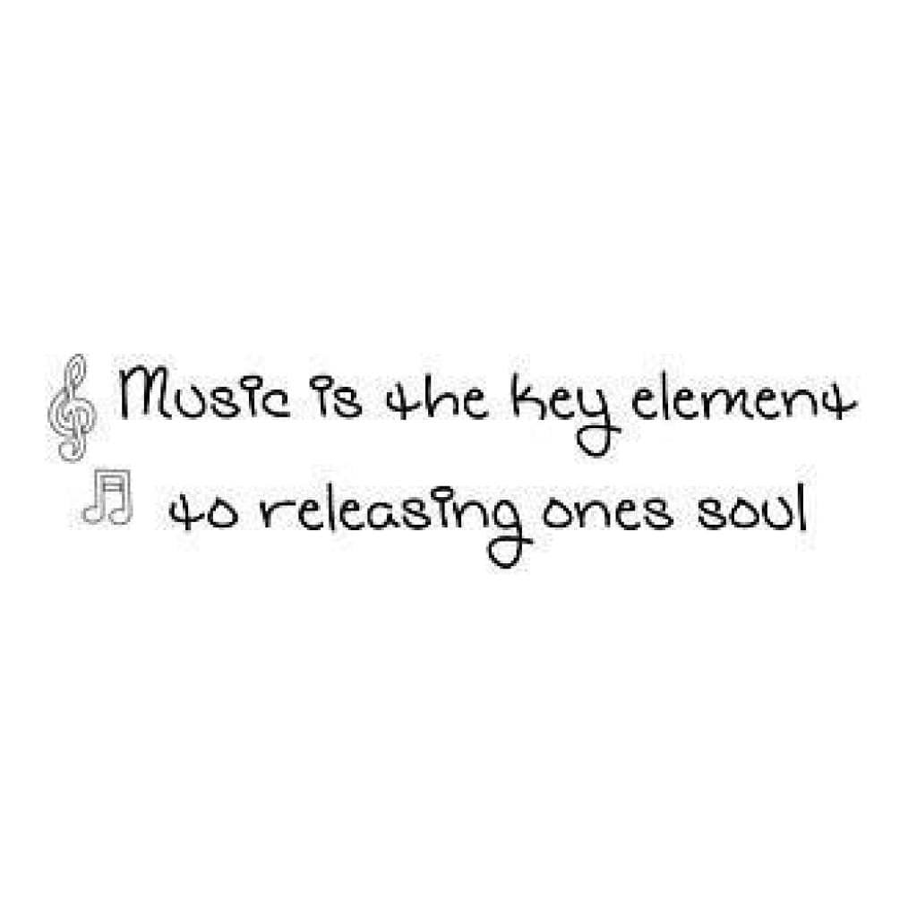 Gourmet Rubber Stamps Cling Stamps 2.75X4.75 Music Is The Key Element