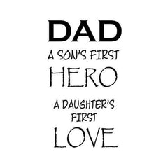 Gourmet Rubber Stamps Cling Stamps 3.25X6.75 Dad A Son's First Hero