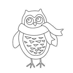Gourmet Rubber Stamps Cling Stamps 3.25X6.75 Large Owl