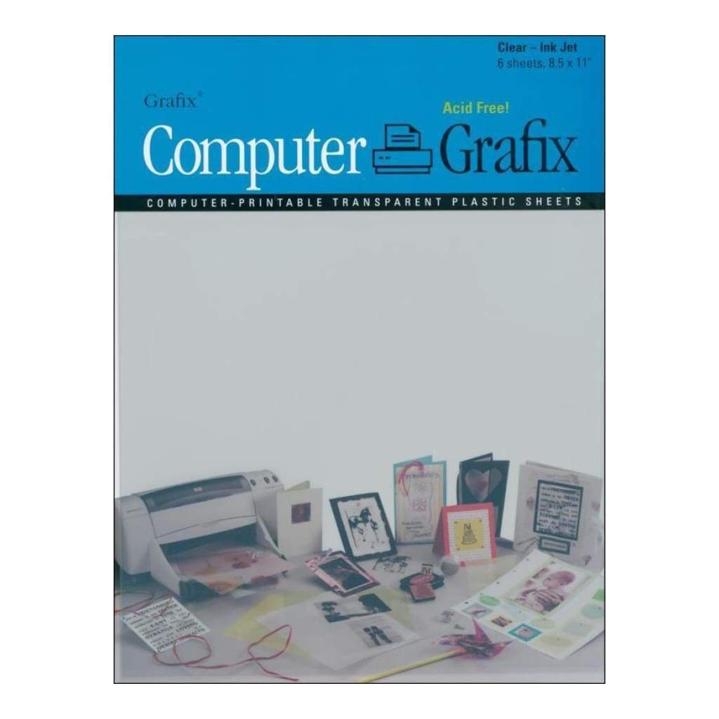Grafix - Computer Ink Jet Film A4 - Clear / 6 Pack