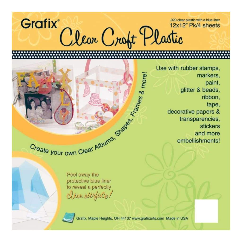 grafix opaque white craft plastic