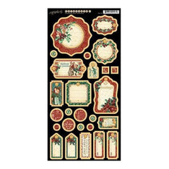 Graphic 45 - A Christmas Carol Chipboard Die-Cuts 6Inch X12inch  Sheet Journaling