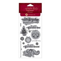 Graphic 45 -  A Christmas Carol Cling Stamps - #2