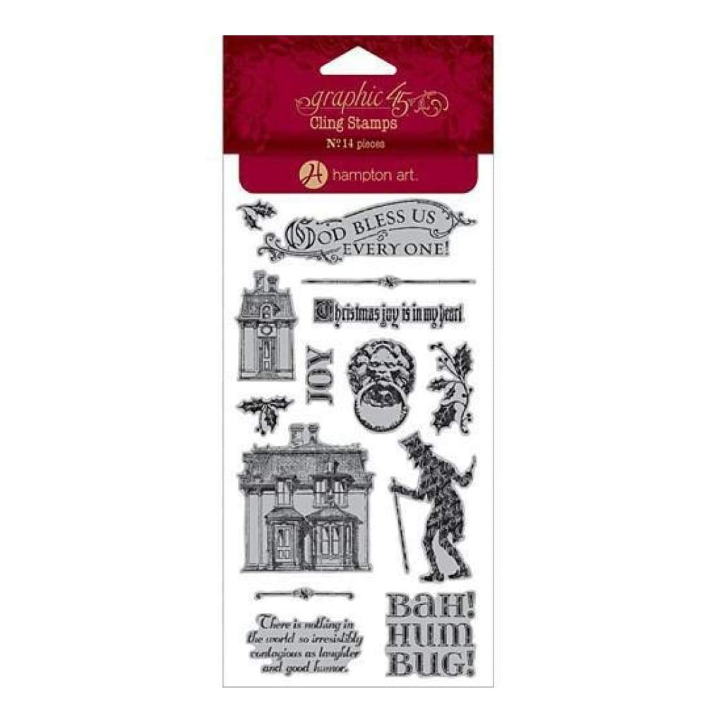 Graphic 45  - A Christmas Caroll Cling Stamps - #1