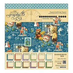 Graphic 45 Calendar Pad 12 Inch X12 Inch 24 Pack Graphic 45 Childrens Hour