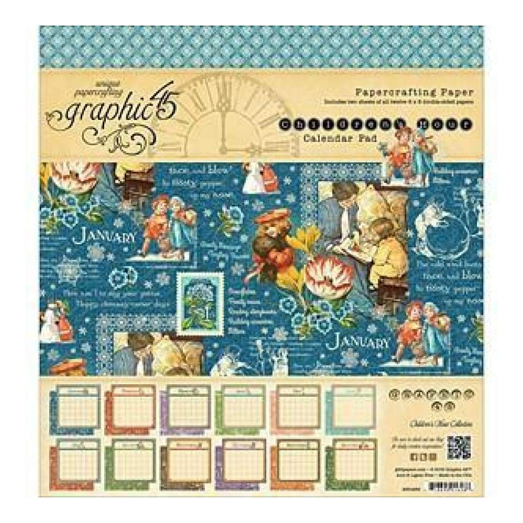 Graphic 45 Calendar Pad 8 Inch X8 Inch 24 Pack Graphic 45 Childrens Hour