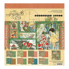 Graphic 45 Collection Pack 12 inch X12 inch Christmas Magic