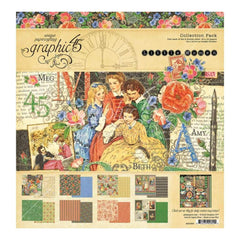 Graphic 45 Collection Pack 12 inch X12 inch Little Women