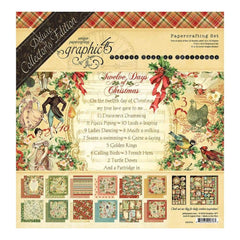 Graphic 45 - Deluxe Collectors Edition Pack 12 inch X12 inch 12 Days Of Christmas