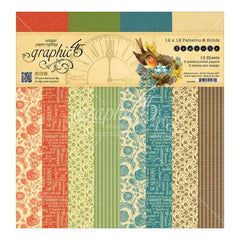 Graphic 45 Double-Sided Paper Pad 12 inch X12 inch 16 pack Seasons, 8 Designs/2 Each