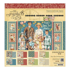 Graphic 45 Double-Sided Paper Pad 12 inch X12 inch 24 pack Pennys Paper Doll