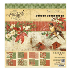 Graphic 45 Double-Sided Paper Pad 12 inch X12 inch 24 pack Winter Wonderland
