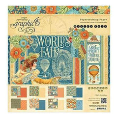 Graphic 45 Double-Sided Paper Pad 12Inch X12inch - Worlds Fair