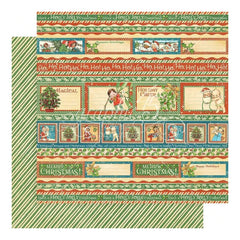 Graphic 45 - Happy Holly Days 12x12 Paper - Gifting Gala