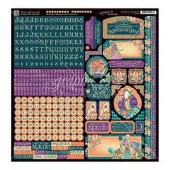 Graphic 45 - Midnight Masquerade Cardstock Stickers 12 inch X12 inch
