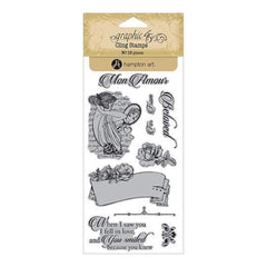 Graphic 45 - Mon Amour Cling Stamps - #1