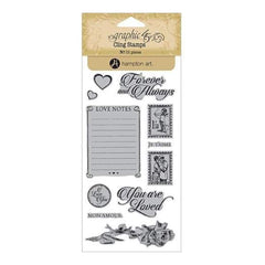 Graphic 45 - Mon Amour Cling Stamps - #2