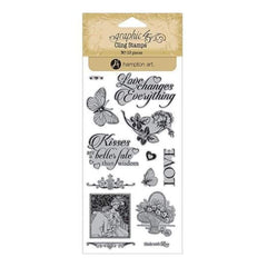 Graphic 45 - Mon Amour Cling Stamps - #3