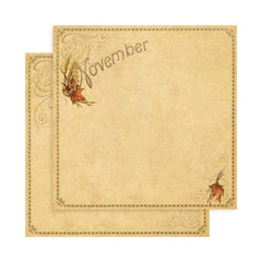 "Graphic 45 -  Place In Time Double-Sided Cardstock 12""""X12"""" November Foundation"