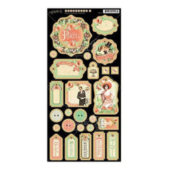 Graphic 45 - Time To Celebrate Chipboard Die-Cuts 6X12 Sheet Decorative