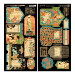 Graphic 45 - Vintage Hollywood Cardstock Die-Cuts 6 inch X12 inch Sheets 2 pack Tags & Pockets
