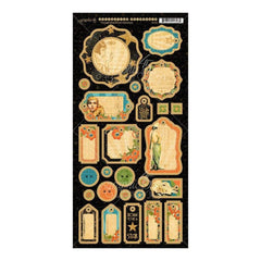 Graphic 45 - Vintage Hollywood Chipboard Die-Cuts 6 inch X12 inch Sheet Journaling