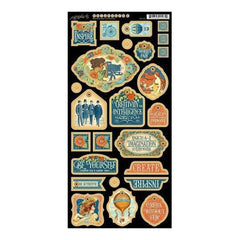Graphic 45 - World's Fair Chipboard Die-Cuts 6Inch X12inch  Sheet Decorative